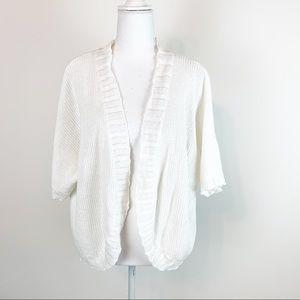 Ralph Lauren women one size white sweater shrug